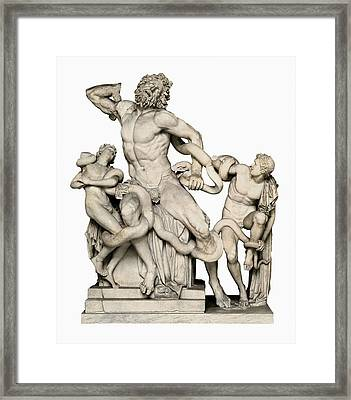 Laocoon With His Sons. 1st C. Bc Framed Print by Everett