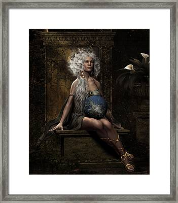 Lap Of The Gods Framed Print by Shanina Conway
