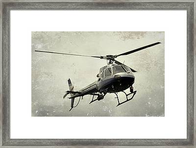 Lapd Helicopter Framed Print by Fraida Gutovich