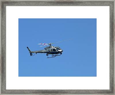 Lapd Helicopter Framed Print