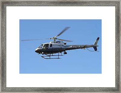 Lapd In Flight Framed Print by Shoal Hollingsworth
