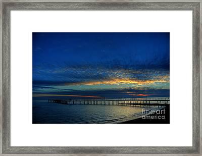 Lapis Sky Framed Print by Erhan OZBIYIK