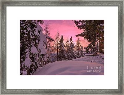 Lapland Sunset Framed Print
