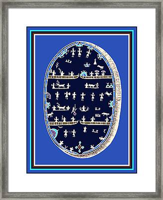 Lappish Shaman's Ritual Drum Framed Print by Vagabond Folk Art - Virginia Vivier