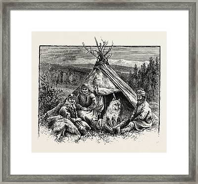 Lapps In Tromsdal Framed Print by English School