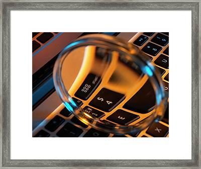 Laptop Close-up Framed Print