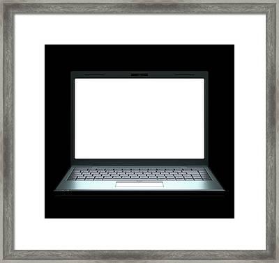 Laptop Framed Print by Ktsdesign