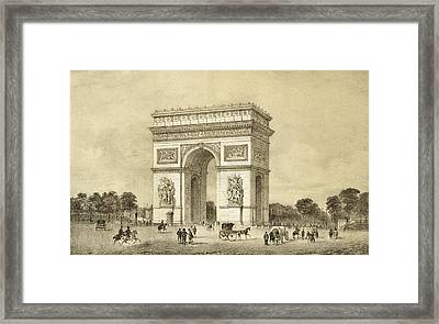 Larc De Triomphe, Paris, Engraved Framed Print