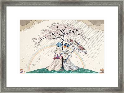 L'arc-en-ciel Framed Print by Georges Barbier