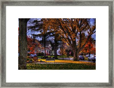 Larchmont-radcliffe Park Framed Print by Don Nieman