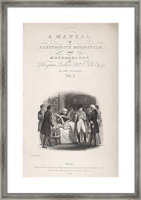 Lardner's Manual (1841) Framed Print by King's College London