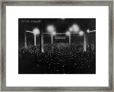 Large Audience Viewed From The Speakers Framed Print