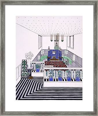 Large Balconied Reception Room Framed Print by Leopold Bauer