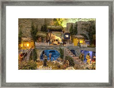 Large Christmas Nativity Scene Framed Print by Bart De Rijk