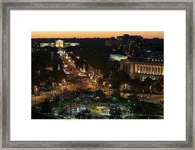 Large Crowd Gathering For Fourth Framed Print