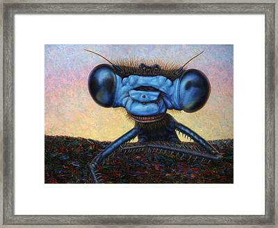 Large Damselfly Framed Print by James W Johnson