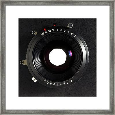 Large Format Adjustable Camera Lens Framed Print