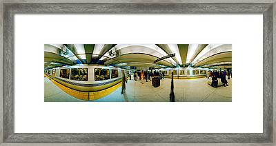 Large Group Of People At A Subway Framed Print