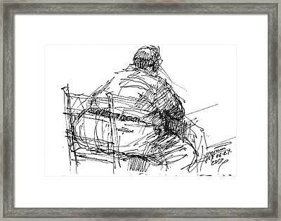 Large Guy Framed Print