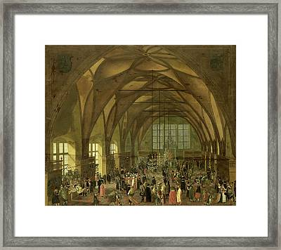 Large Hall In The Prague Hradschin Castle Framed Print by Litz Collection