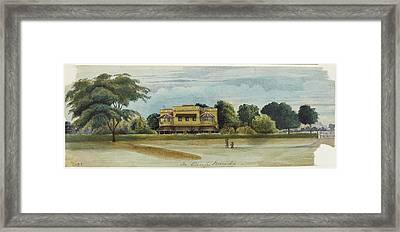 Large House And Garden. In Camp Baroda.' Framed Print