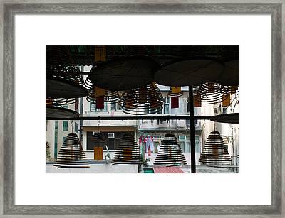 Large Incense Coils Hanging In Pak Sing Framed Print