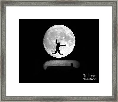 Large Leap For Mankind Framed Print by Patrick Witz