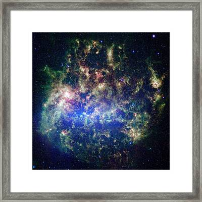Large Magellanic Cloud Framed Print by Nasa/jpl-caltech/stsci