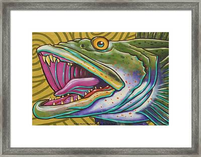 Large Mouth Fish Framed Print by Unknown