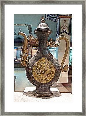 Large Ornamental Tea Pot In Tibet Museum In Lhasa-tibet     Framed Print by Ruth Hager