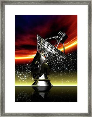 Large Radio Telescope Framed Print by Victor Habbick Visions