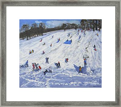 Large Snowman  Chatsworth Framed Print