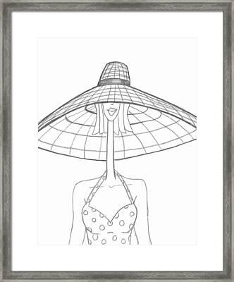 Large Sun Hat Framed Print by Ray Ratzlaff