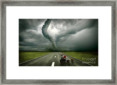 Large Tornado Framed Print by Boon Mee
