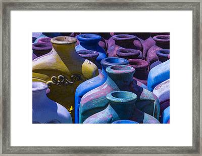 Large Vases Framed Print