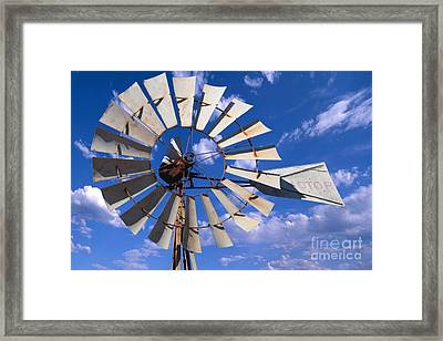 Large Windmill Framed Print