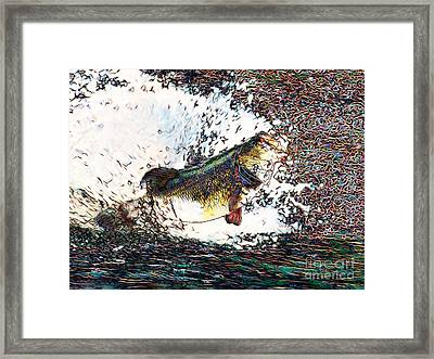 Largemouth Bass P180 Framed Print by Wingsdomain Art and Photography