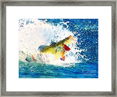 Largemouth Bass - Painterly Framed Print by Wingsdomain Art and Photography