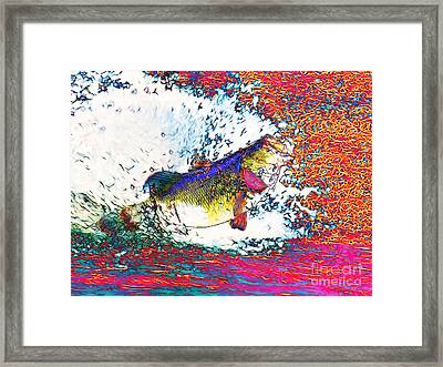 Largemouth Bass Framed Print by Wingsdomain Art and Photography