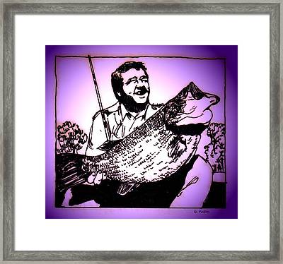 Largemouth Framed Print by George Pedro