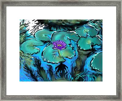 Largo Waterlilies Framed Print by Jean Pacheco Ravinski