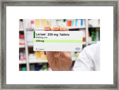 Lariam Antimalarial Pills Framed Print by Mark Thomas