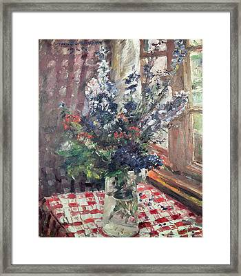 Larkspur Framed Print by Lovis Corinth