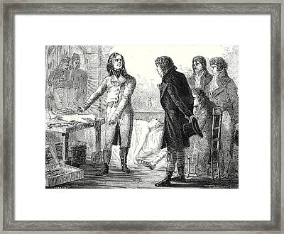 Larrey Causes By Galvanism Muscle Contractions Framed Print by English School