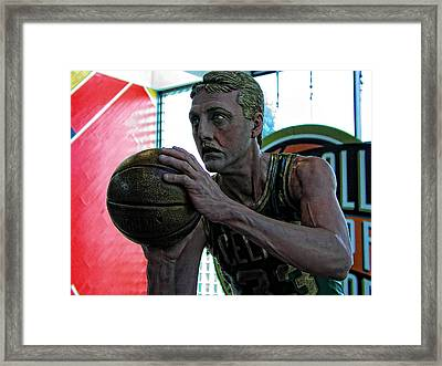 Larry Bird At Hall Of Fame Framed Print by Mike Martin