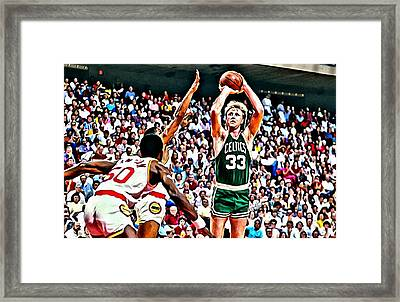 Larry Bird Framed Print by Florian Rodarte