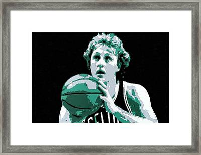 Larry Bird Poster Art Framed Print by Florian Rodarte