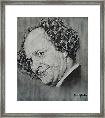 Larry Fine Of The Three Stooges - Where's Your Dignity? Framed Print by Sean Connolly