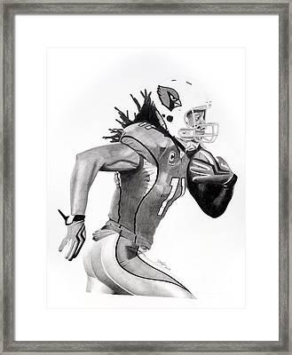 Larry Fitzgerald Fitz Framed Print by Devin Millington