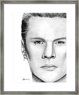 Larry Mullen Jr. Framed Print by Kayleigh Semeniuk
